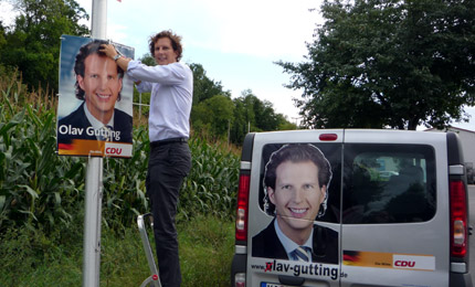 Olav Gutting MdB - Plakatierung - September 2009
